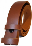 25mm Brown Snap Fit Leather Belt